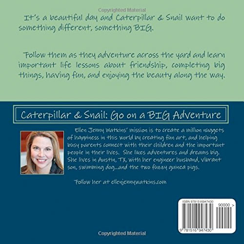 Caterpillar and Snail: Go on a BIG Adventure (back cover image)
